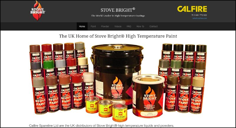 StoveBright responsive website by Jewelion