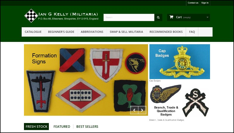 Kelly Badges e-commerce website by Jewelion